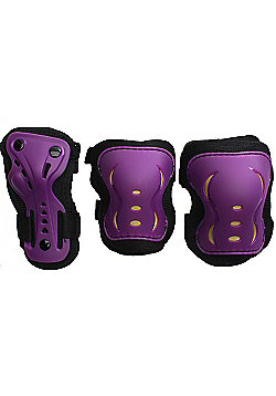SFR Essentials Triple Pad Set - Purple / Black / Gold - Large (age 9-12)