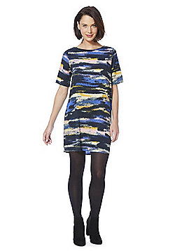 JDY Graphic Stripe V Back Shift Dress - Multi