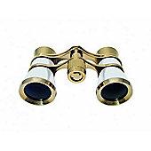 Braun 3x25 OPERA Binoculars Pearl/Gold