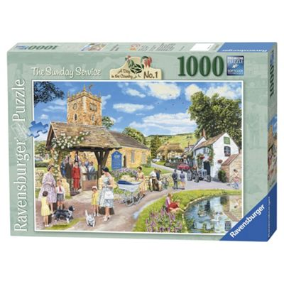 Ravensburger Escape to the Country The Sunday Service, 1000-Piece JigsawPuzzle