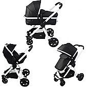 Red Kite Push Me Fusion Travel System Galaxy - Black