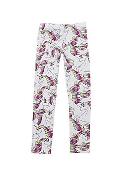 F&F Unicorn Print Leggings - Multi