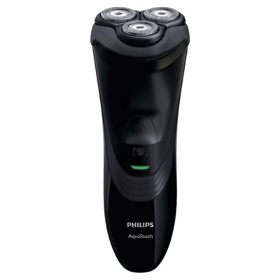 Philips AT899/16 Mens Aquatouch Wet and Dry Rotary Electric Shaver - Black