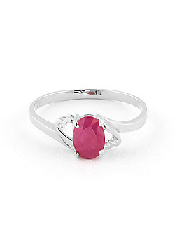 QP Jewellers 1.15ct Ruby Classic Desire Ring in 14K White Gold