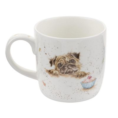 Royal Worcester Wrendale Pug Love Single Bone China Mug