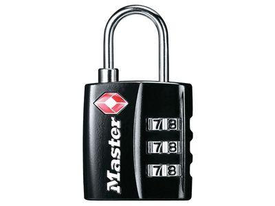 Master Lock TSA 3 Digit Combination Black Finish 30mm Padlock