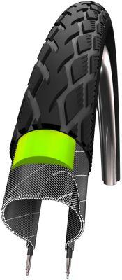 Schwalbe Marathon Tyre: 26 x 1.3/8 Reflex Wired. HS 420, 37-590, Performance Line, GreenGuard