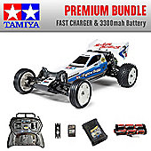 TAMIYA Neo Fighter 2WD Buggy RC Car Premium Bundle Fast Charger 58587