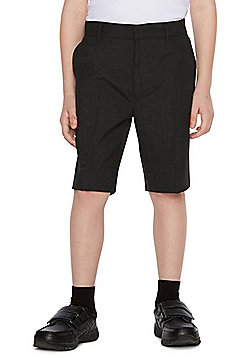 F&F School 2 Pack of Boys Slim Leg Shorts - Dark grey