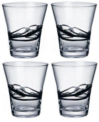 Bormioli Rocco Ceralacca Tumblers Glasses - 385ml - 13oz - Black - Set of 4