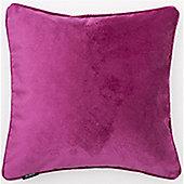 McAlister Fuchsia Pink Matt Velvet Cushion Cover - 43x43cm