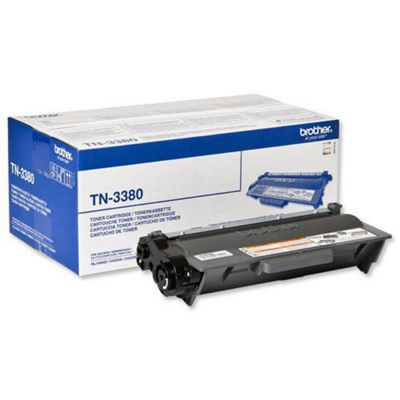 Brother Laser Toner Cartridge High Yield Page Life 8000pp Black (Ref TN3380)