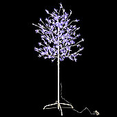 Jingles 2.4m Twinkling Blossom Tree with 480 White/Blue Multi Function LED Lights
