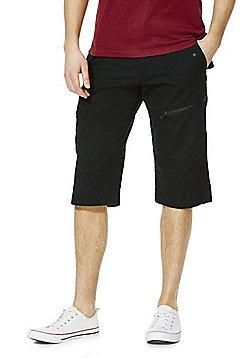 F&F 3/4 Length Shorts with Belt - Black