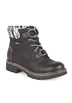 Pavers Water Resistant Lace up Boot - Black
