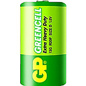 GP Batteries Greencell D Zinc Chloride 1.5V non-rechargeable battery