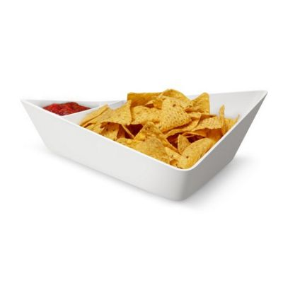 Black + Blum Forminimal Chip + Dip Bowl - White