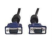 VCOM VGA/VGA M/M 1.8m VGA (D-Sub) Black cable