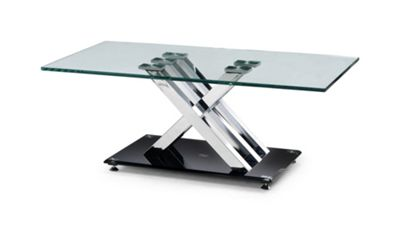 Julian Bowen X-Frame Coffee Table with Glass