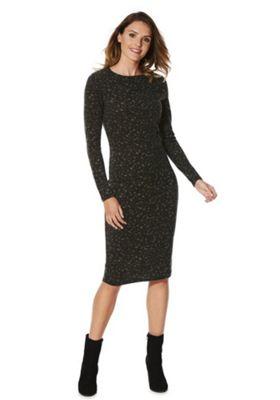 Vero Moda Blurred Leopard Print Dress XS Green