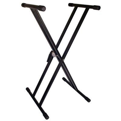 TGI Double Braced Keyboard Stand - Black