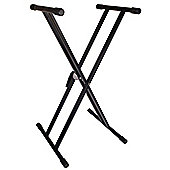 TGI Double Braced Keyboard Stand - Black