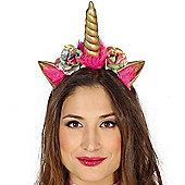 Gold Floral Unicorn Headband
