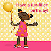 Holy Mackerel Greeting Card - Birthday balloon Birthday Greetings card