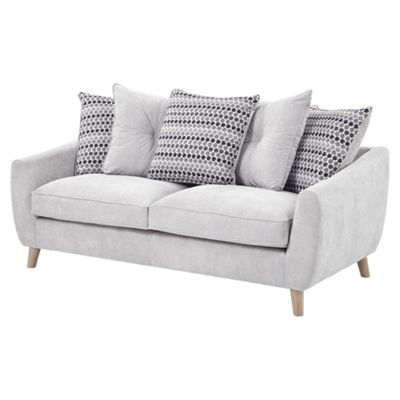 Dalston Large 3 Seater Sofa, Light Grey