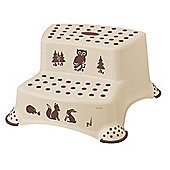 Forest Friends DOUBLE Step Stool (Coffee)