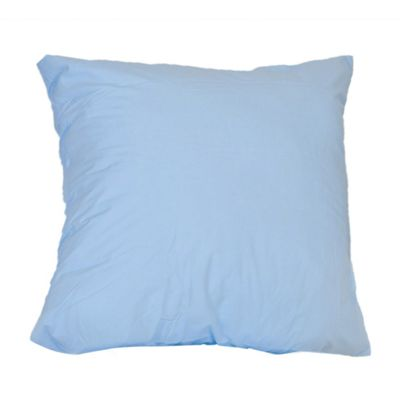 Homescapes Blue Continental Square Pillowcase 100% Egyptian Cotton Pillow Cover 200 TC, 40 x 40 cm