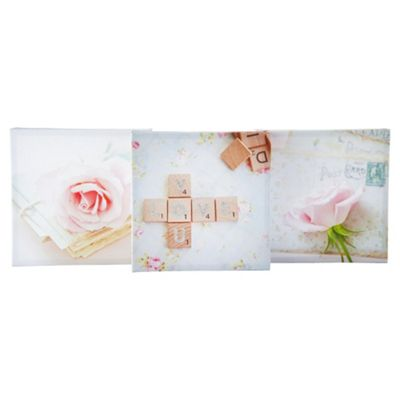 3 Pack Triptych Canvas Love You