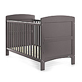 Obaby Grace Cot Bed and Mattress - Taupe