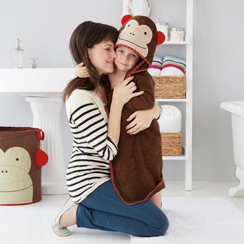Skip Hop Zoo Hooded Towel Monkey