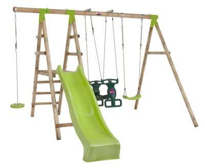 Plum Muriqui® Wooden Swing Set
