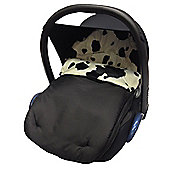 Fit Animal Print Padded Car Seat Footmuff/Cosy Toes Cow