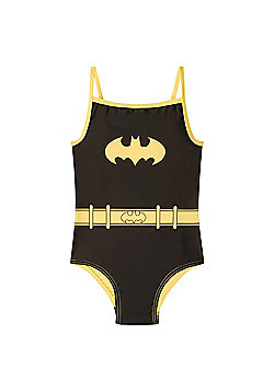 DC Comics Wonder Woman Supergirl Batman Girls Swim Suit Costume - Black