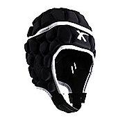 X Blades Elite Rugby Headguard Scrum Cap Head Protection Black - XS