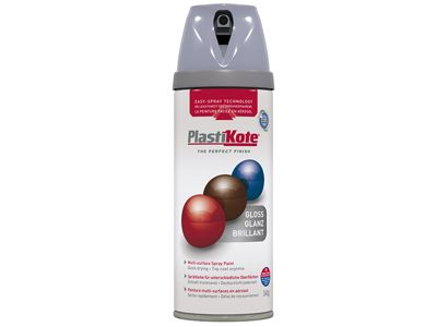 Plasti-kote Twist & Spray Gloss Aluminium 400ml