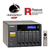 QNAP TS-653A-8G/24TB-IW Pro 6-Bay 24TB(6x4TB Seagate IronWolf Pro) Network Attached Storage with 8GB RAM