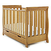 Obaby Lincoln Mini Sleigh Cot Bed - Country Pine