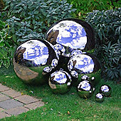 35cm Stainless Steel Mirror Sphere Garden Feature