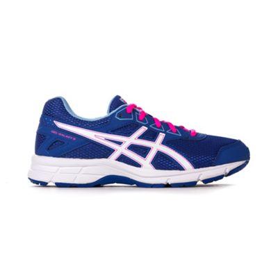 Asics Gel Galaxy 9 Girls Running Trainer Shoe Blue / Pink - UK 5