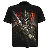 Spiral Dragon Warrior T-Shirt, Short Sleeve, Adult Male, Extra Large, Black - Other