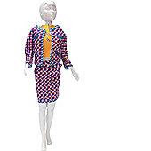 Dress your Doll Pattern - Jacky Coco Orange
