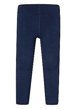 Mountain Warehouse Fleece Kids Footless Tights - Blue
