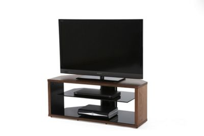 Off The Wall Mono TV Stand - Walnut Veneer