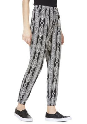 F&F Abstract Print Cuffed Jersey Trousers Multi 12