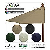 Nova 3m Round Taupe Wooden Garden Parasol
