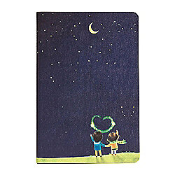 iPad Mini 4 Love Couple Under The Stars Flip Over Cover Case - Navy